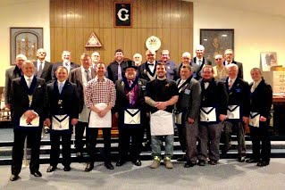 Print page on monday april 3rd north bank lodge initiated nr center left and tyler young center right as entered apprentice masons the first step in their maxwellsz